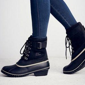 Sorel Winter Fancy Lace Duck Boots 9.5